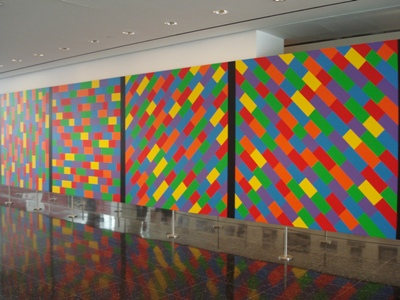 SolLeWitt's panels at the MoMA