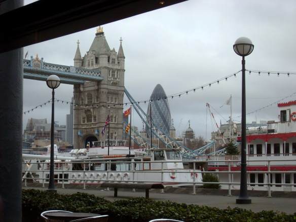 View from Pont de la Tour restaurant, London